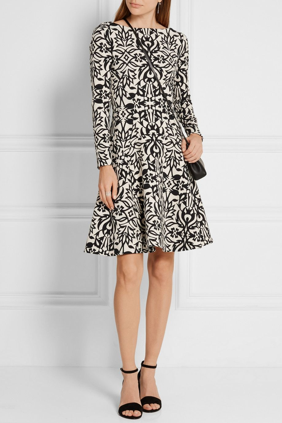 Lela Rose | Stretch cotton-blend jacquard dress | NET-A-PORTER.COM ...