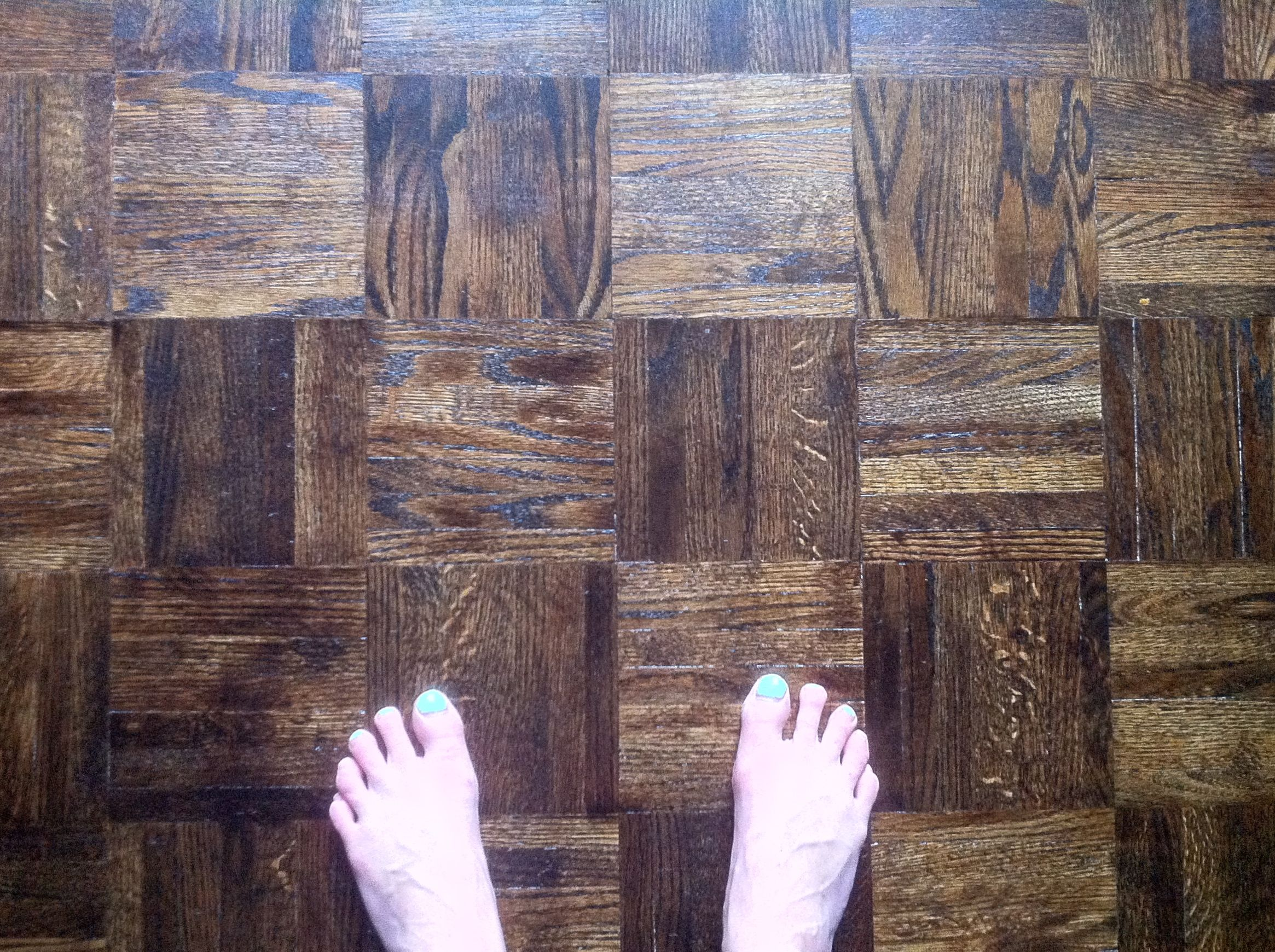 Refinished Walnut Stained Parquet Diy Wood Floors Refinishing Hardwood Flooring Wooden