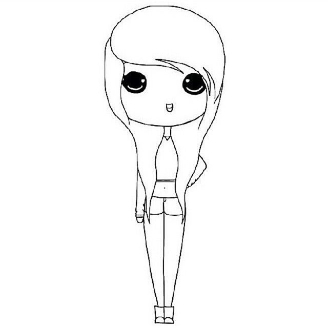 Instagram Chibi Girl Coloring Pages Chibi Girl Drawings Chibi Coloring Pages Cartoon Girl Drawing