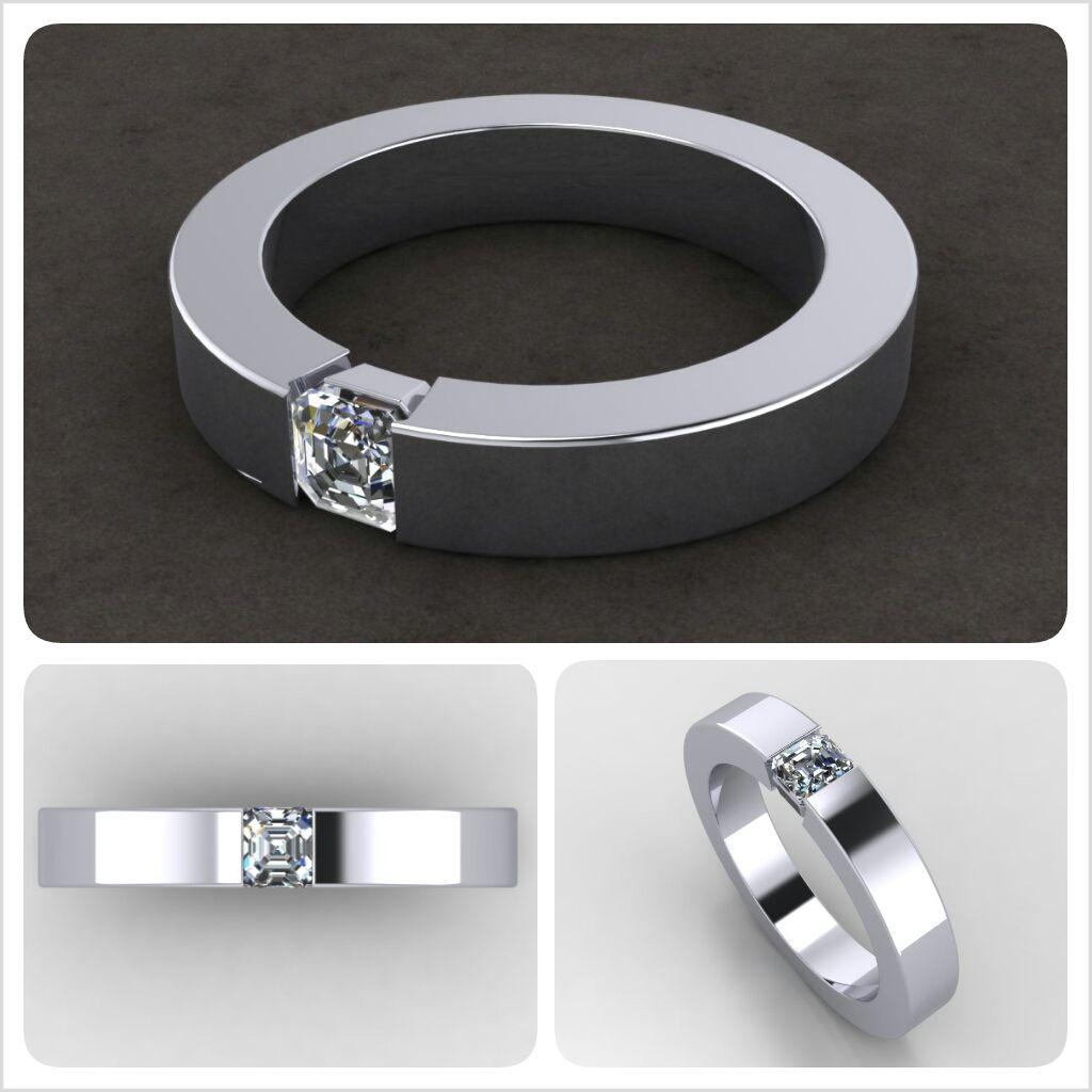 Custom Solitaire Men S Engagement Ring In Durable Platinum