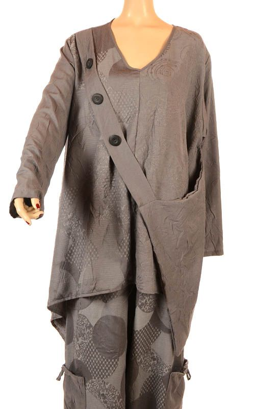 e28614985756 Turbulence Spring Collection Shimmering Grey Variations Funky Faux Bag  Tunic-Turbulence