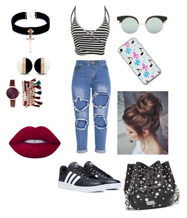 """""""Untitled #391"""" by kau648156 on Polyvore featuring Karl Lagerfeld, VSA, Lime Crime, Jessica Carlyle, men's fashion and menswear"""