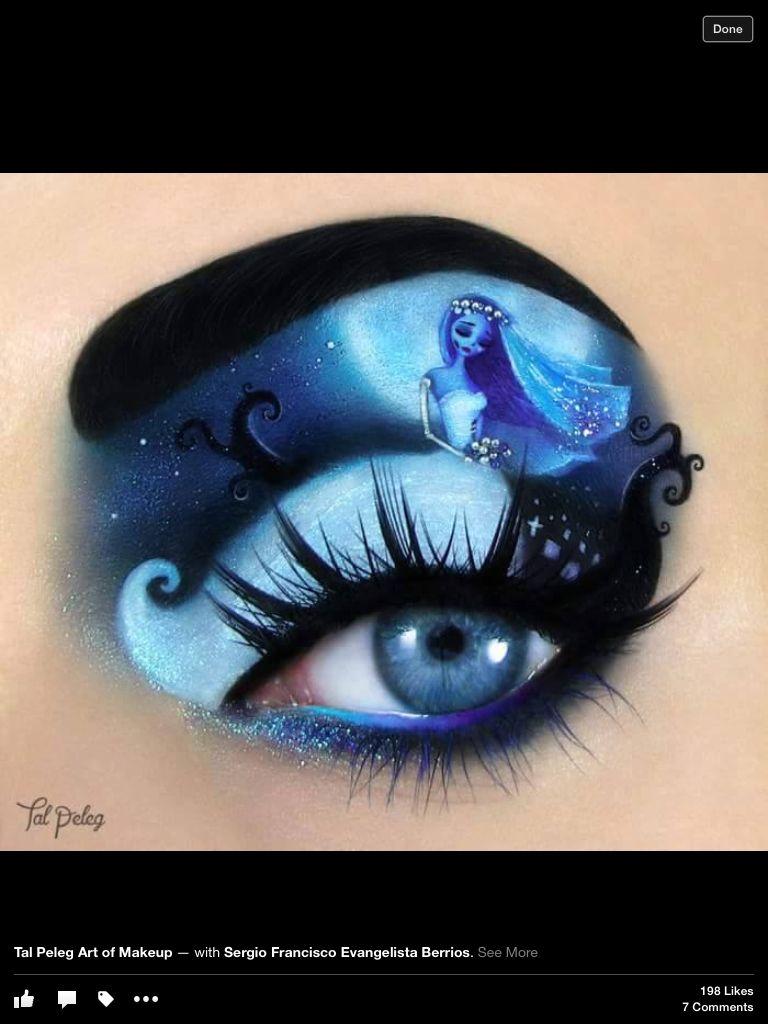 Corpse bride eye makeup