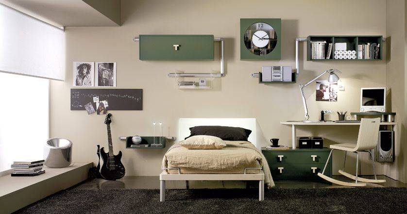 Cool Contemporary Teen Bedroom Decoration