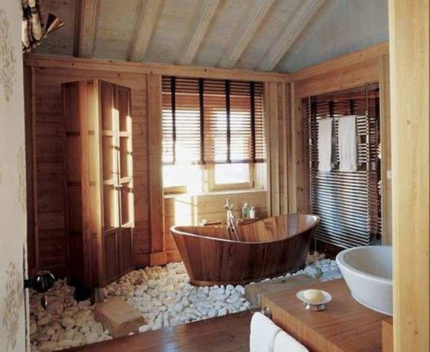 Calming Zen Bathroom Design : Zen Bathroom Design With Rustic ...