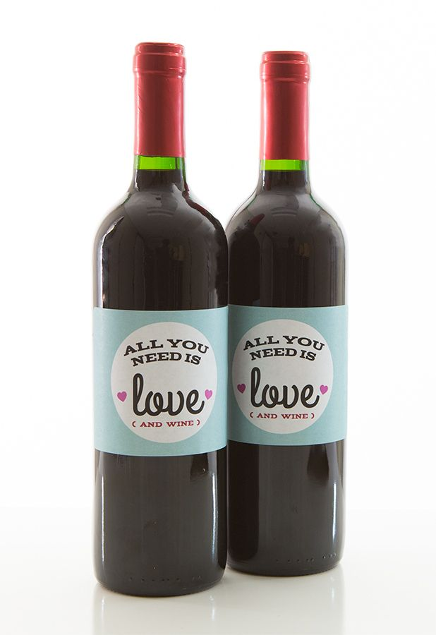 picture regarding Free Printable Wine Labels With Photo called Do-it-yourself Valentines Working day Cost-free Printable Wine, Drinking water Chocolate