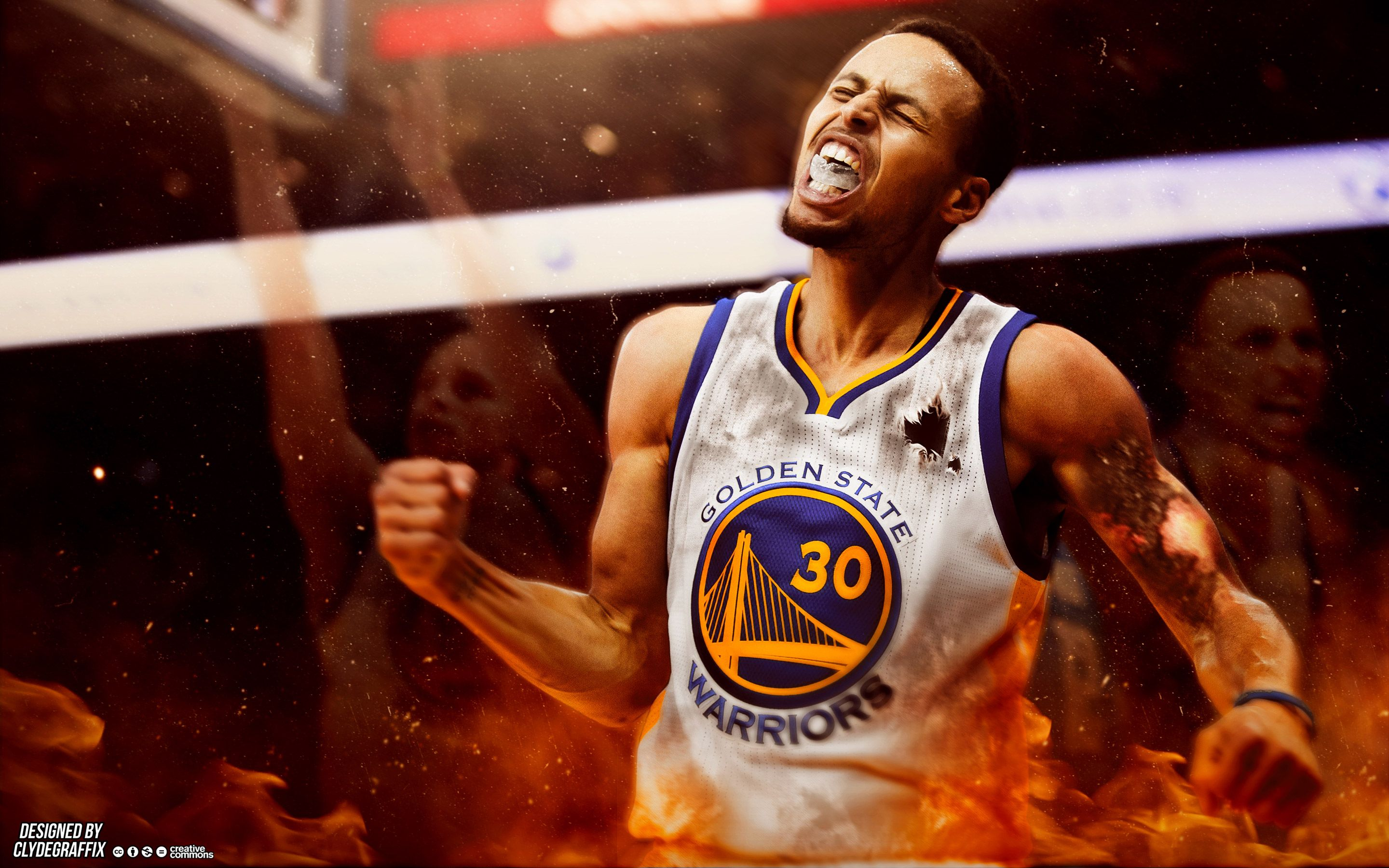 Stephen Curry On Fire stephen curry wallpaper
