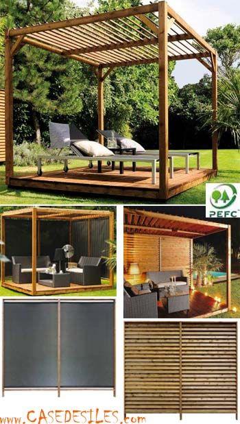 Pergola En Bois Cubique Amazone 0321200 Pas Cher Pergola Bois Pergola Jardiniere En Bois