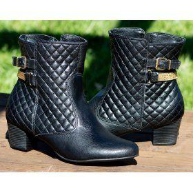 7910aa9b4f Ankle Boot DM Extra Matelasse Preto 382376 Numeração Especial Tamanhos  Grandes 41 42 43