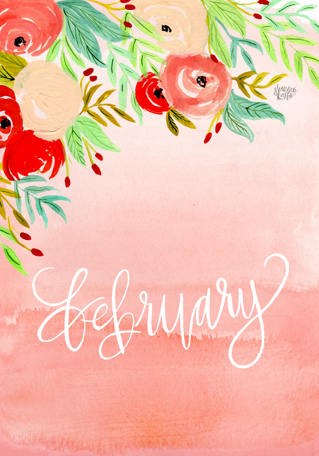 HELLO FEBRUARY : A DESKTOP DOWNLOAD
