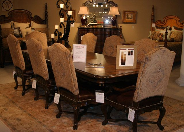 Thomasville Furniture Hills Of Tuscany Dining Room Rectangular Table And Chairs Dining Room Thomasville Furniture Tuscan House Dining Room Furniture