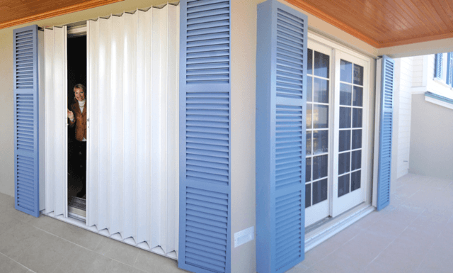 Pocket Accordion Shutters Combine The Look Of Beautiful