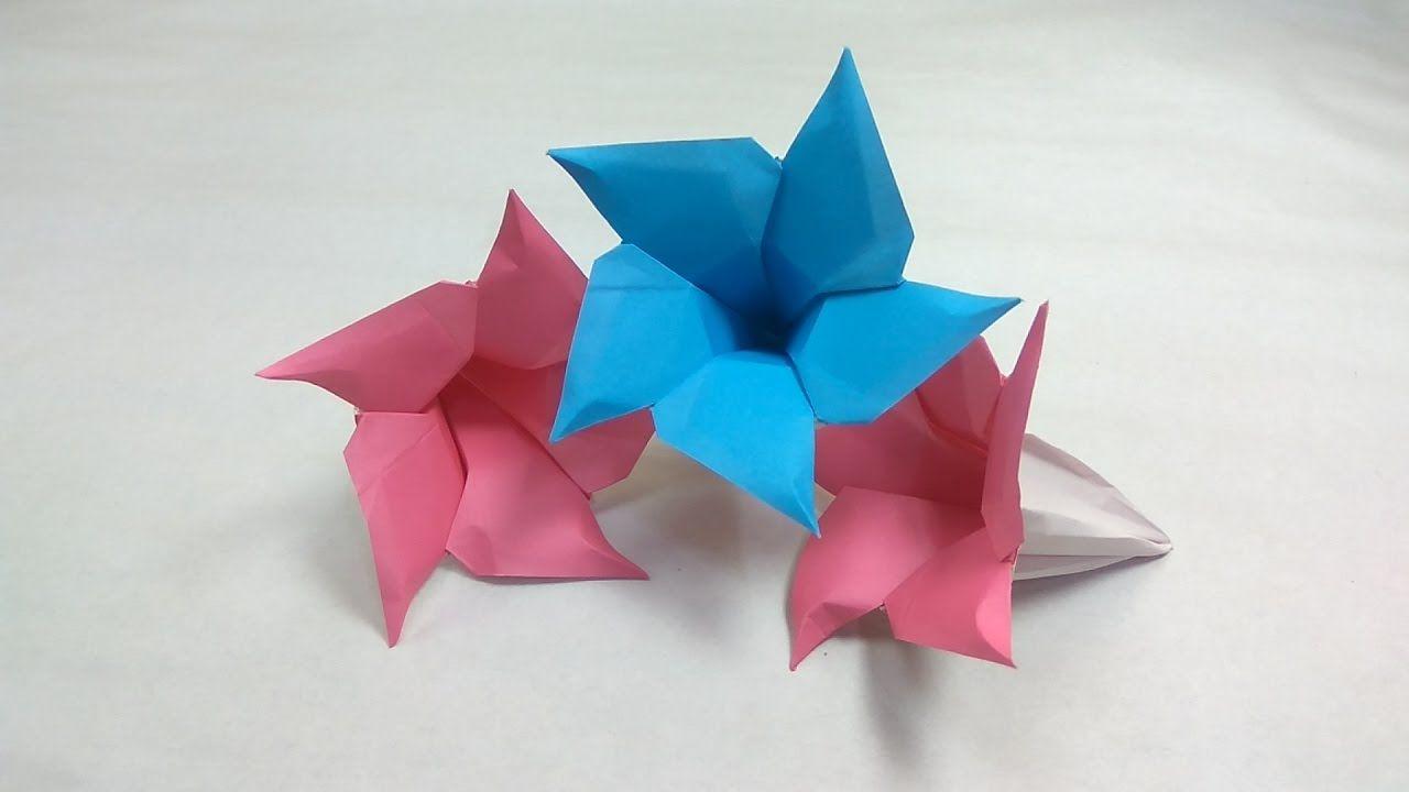 Origami Flower Of Dipladenia Tutorial Naomiki Sato Flowers Diagrams