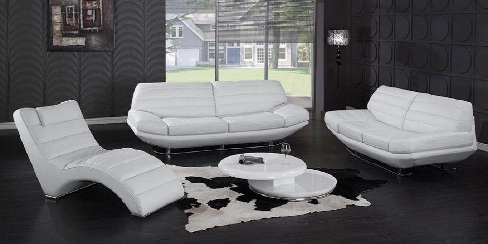 Modern Contemporary White Leather Sofa Set White Leather Sofa