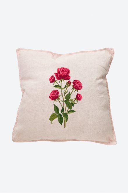 Roses – Motif point de croix – Motifs de broderie traditionnels   – Broderie