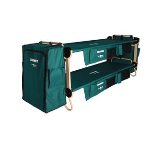 Disc O Bed Cam Bunk Large Green With Cabinets