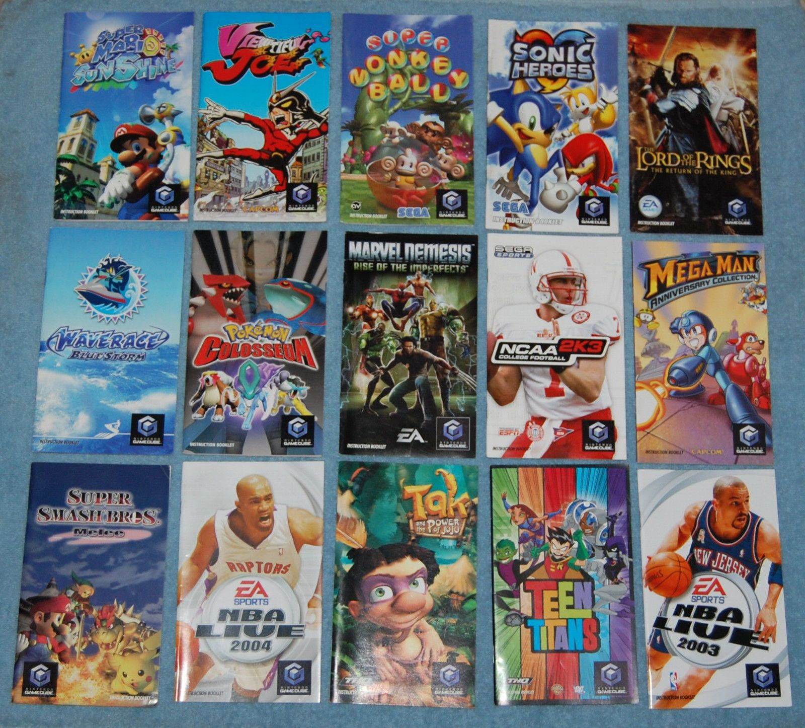 Nintendo Gamecube Game Manuals Manuals Only Common
