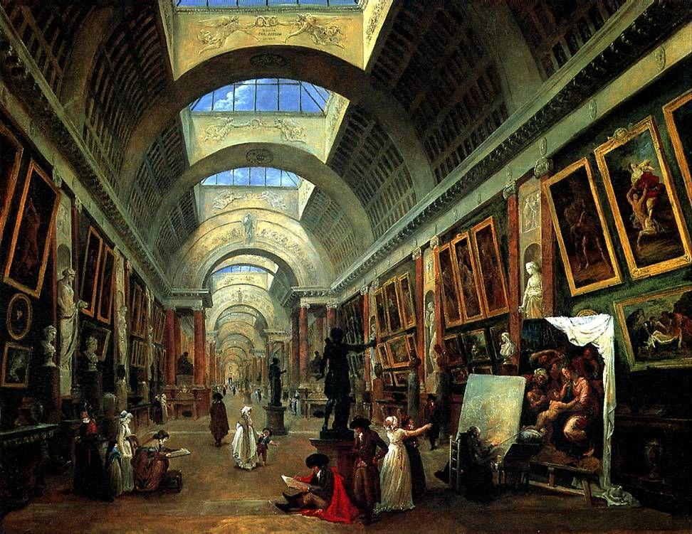 РОБЕР ЮБЕР,Проект оформления Большой галереи Лувра,1796 ...