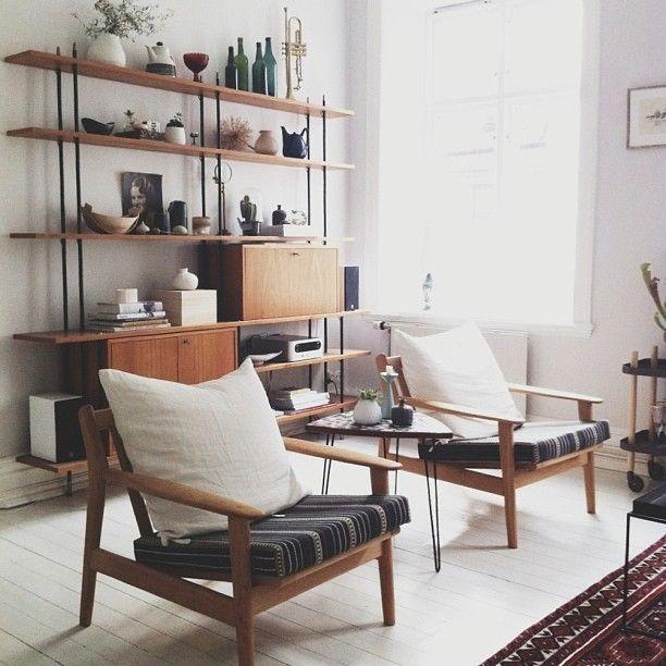 10 belles bibliothèques et étagères design et vintage | Mid ...