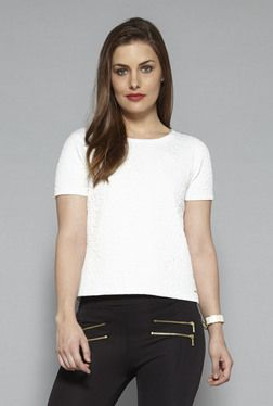 2082bf27e3 Wardrobe by Westside Off White Posh Top | Fashion combo 3 | Womens ...