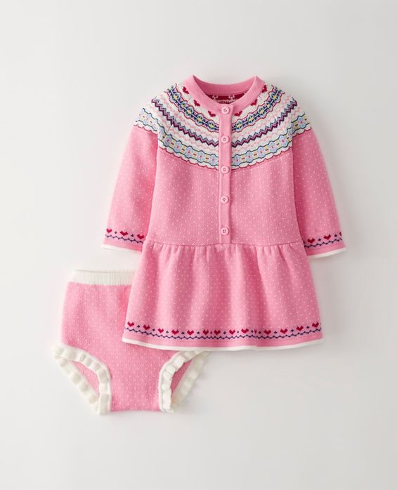 Fair Isle Sweater Dress Set | Baby Girl Clothes | Pinterest | Babies