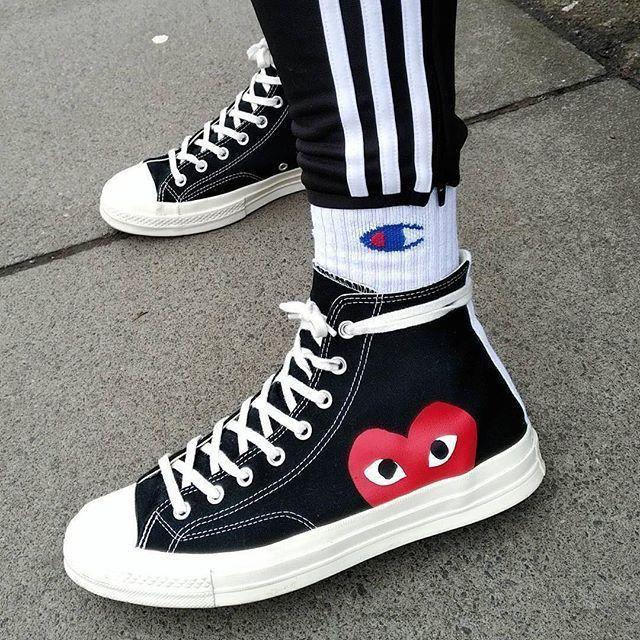 CDG converse + adidas sweats | Sneakers