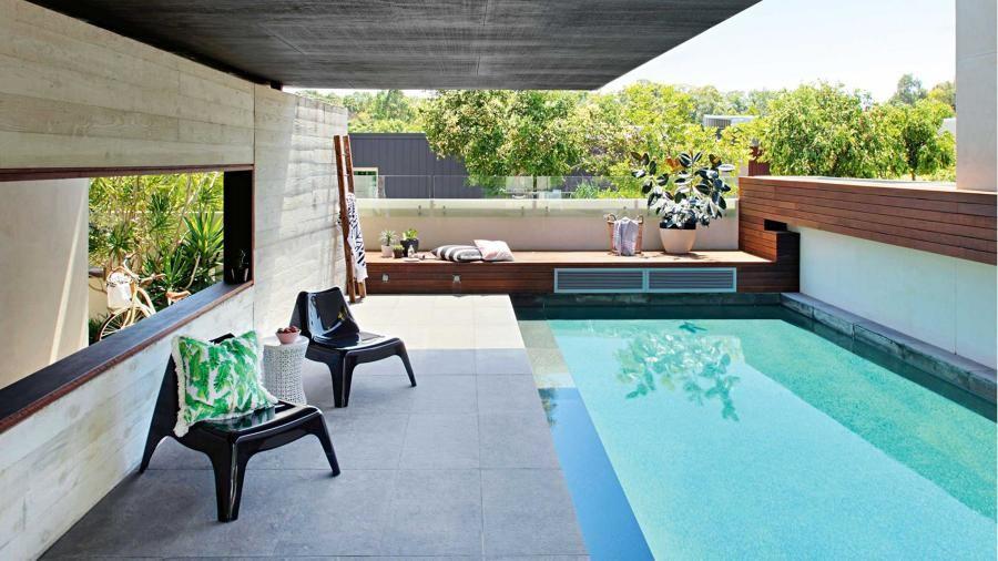 Piscina peque a en patio piletas pinterest piscinas for Pequenas piletas