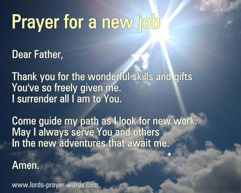 prayer for a new job | More of God | Prayer for job