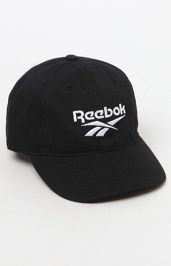 Reebok Black Strapback Dad Hat  b3403d292f13