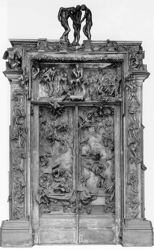 Rodin's Gates of Hell, at the Rodin Museum in Philadelphia, Pennsylvania