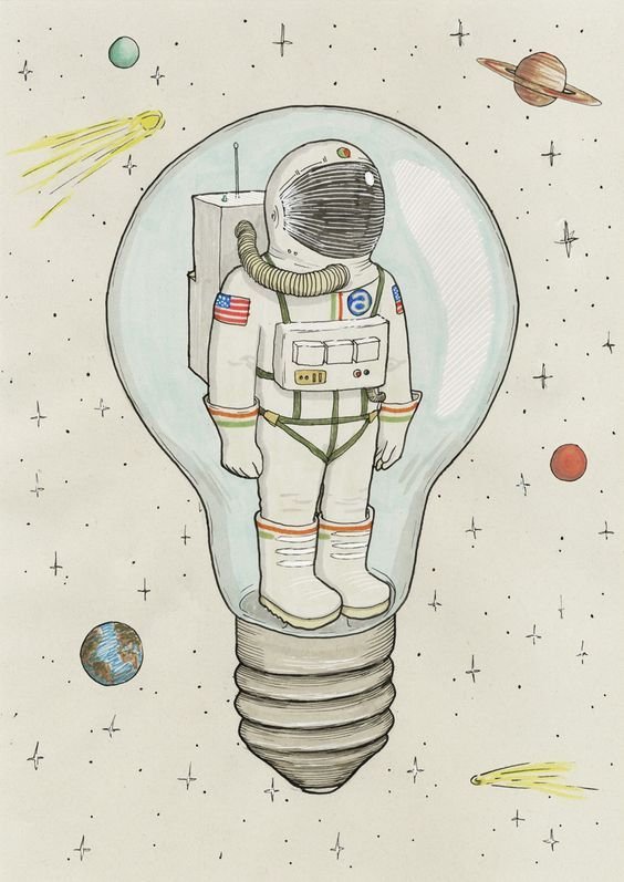 Astronaut dessin espace univers astronaute et tim e - Dessin d astronaute ...