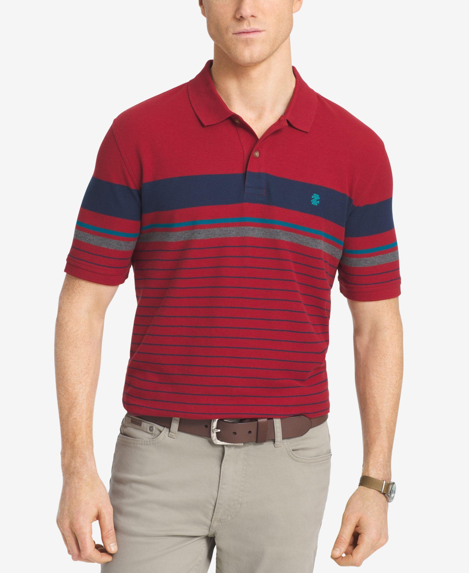 cf4adebd Izod Men's Engineered Striped Polo | SPRING 19 | Polo, Polo Shirt ...
