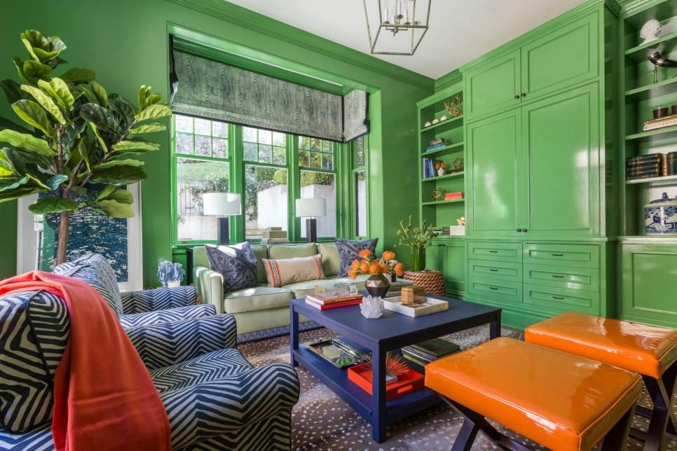 Bring The Outdoors In With This Nature Inspired Hue Living Room