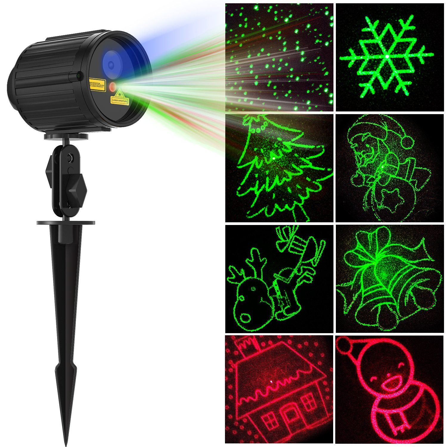 christmas projector lights laser lights laser show star light shower