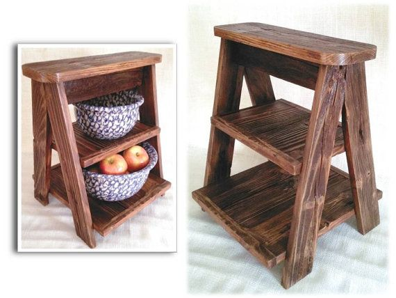 Rustic Reclaimed Barn Wood Ladder Kitchen By AlleyCatDesignSt