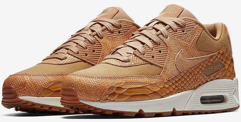 Men AH8046 200 Air Max 90 Men Running Shoes Sneakers Brown