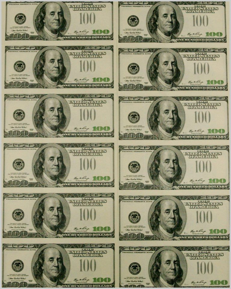 photograph relating to Printable 100 Dollar Bill Template titled Printable Economical Template Printable Monetary Template 321874