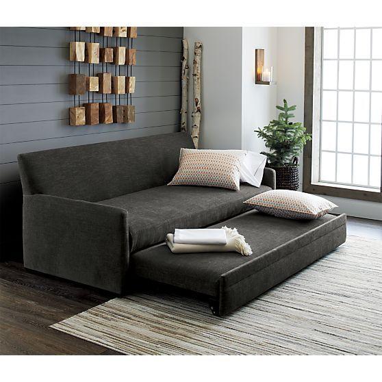 Reston Queen Trundle Sofa Reviews Crate And Barrel Sofa Sleeper Sofa Family Room Sofa