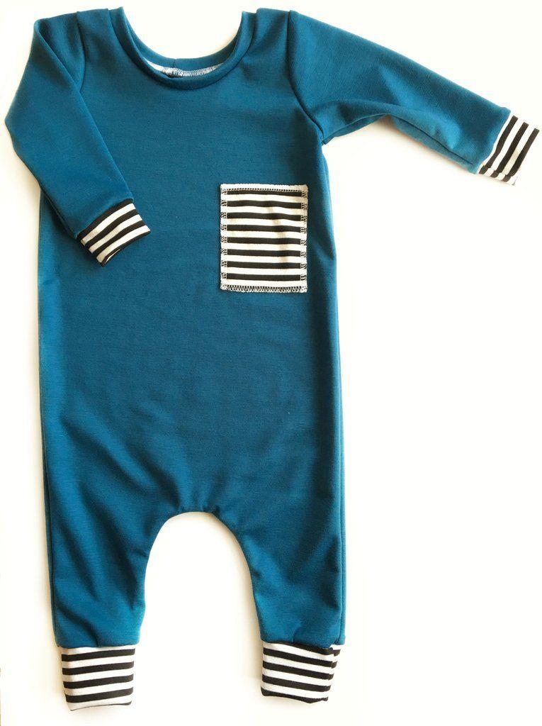 Jade and stripes harem romper | bobitos para bebes | Pinterest