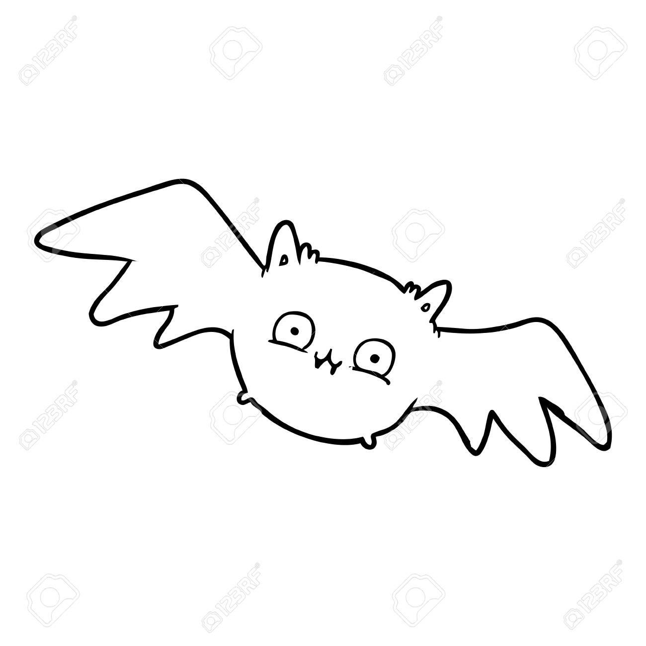 Hand Drawn Vampire Halloween Bat Aff Drawn Hand Vampire
