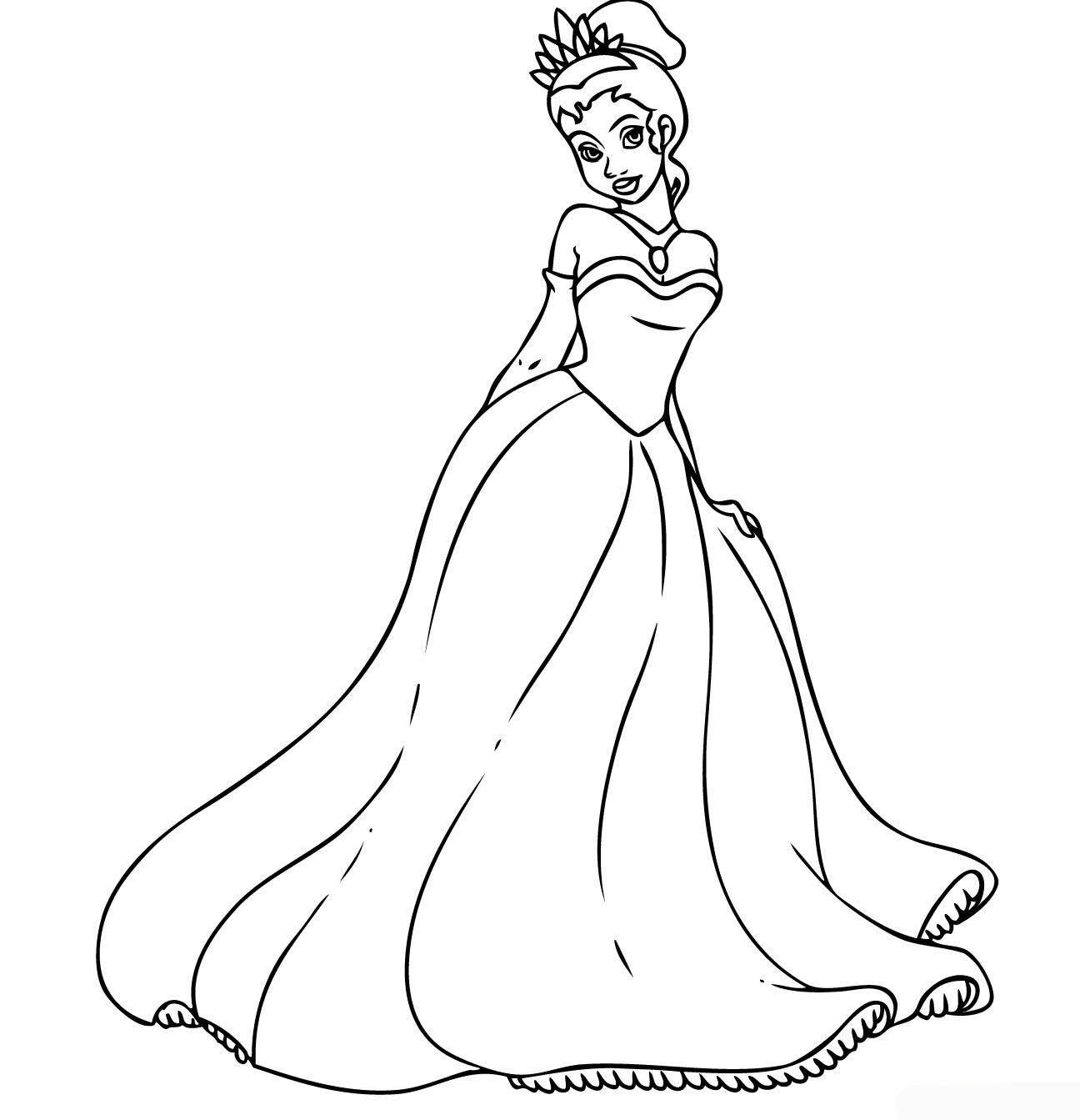 Disney princess disney princess tiana coloring pages to girls tea