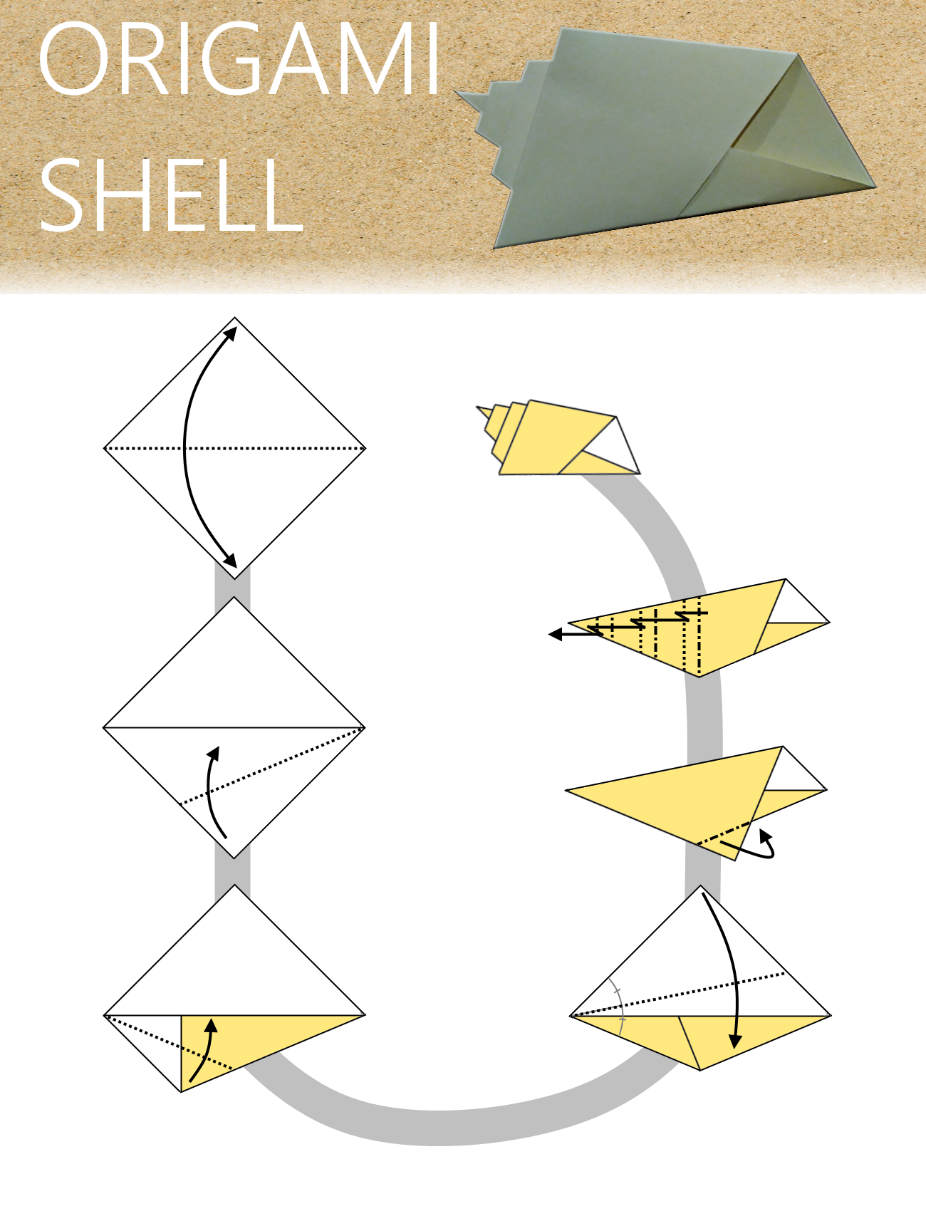 Origami Shell Diagram I Dont Know Who Created The Model But Christmas Diagrams Figured Steps