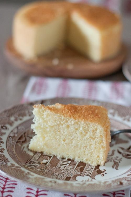 hot milk sponge cake -