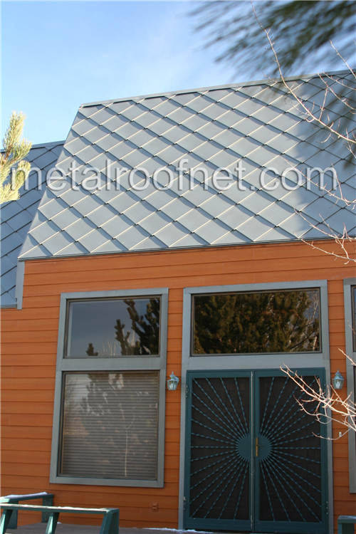 We Manufactured These Pure Zinc Diamond Roof Tiles For This Modern Style Residence Copper Roof Mansard Roof Metal Roof