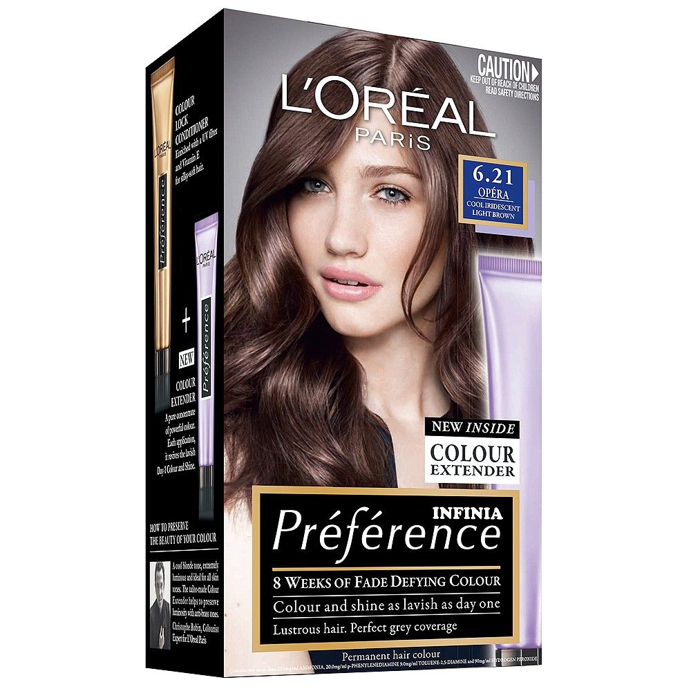 L Oreal Paris Preference Infinia 6 21 Opera Cool Iridescent Light Brown 1 Pack Hair Color Loreal Paris Loreal Casting Creme Gloss