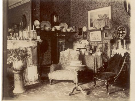 A Rather Cluttered Victorian Sitting Room Photographic Print Allposters Com Victorian Parlor Victorian Interiors Victorian Decor