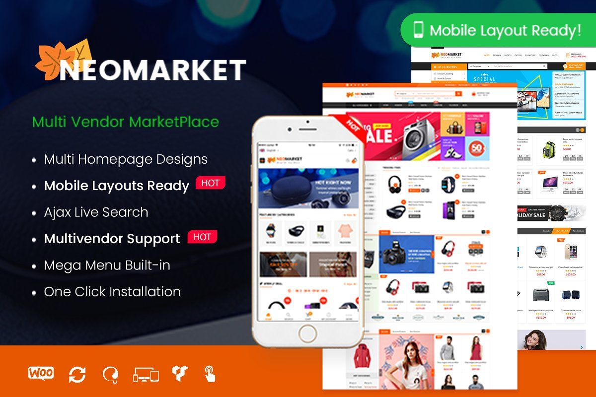 Ad NeoMarket Multi Vendor by WPThemeGo on