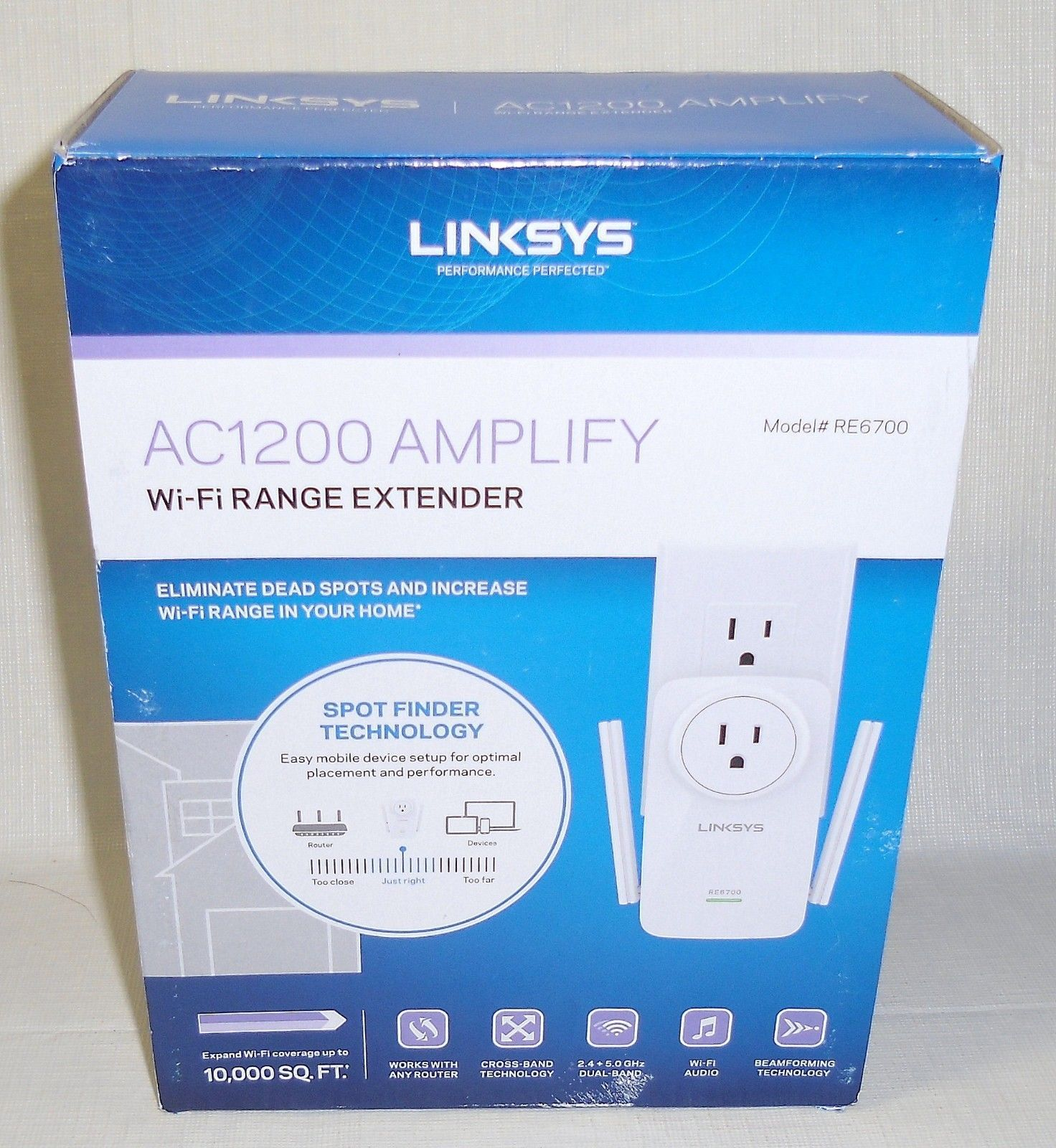 New linksys ac1200 re6700 amplify dual band high power wi fi range new linksys ac1200 re6700 amplify dual band high power wi fi range extender fandeluxe Images