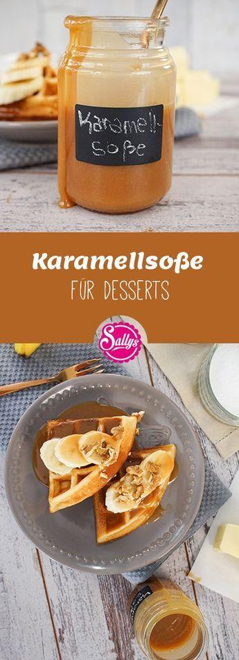 Mhmm, selbstgemachte Karamellsoße für Desserts! Eignet sich hervorragend zu Waffeln oder anderen süßen Desserts. #trifledesserts