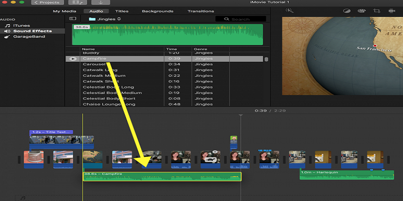 How To Add A Soundtrack And Adjust Audio In Imovie Sound Effects Soundtrack Audio